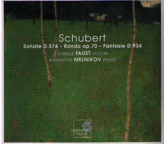 Franz Schubert / Works for piano and violin / Isabelle Faust / Alexander Melnikov