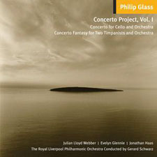 Philip Glass / Cello Concerto / Concerto Fantasy // Julian Lloyd Webber / Evelyn Glennie / Royal Liverpool Philharmonic / Gerard Schwarz