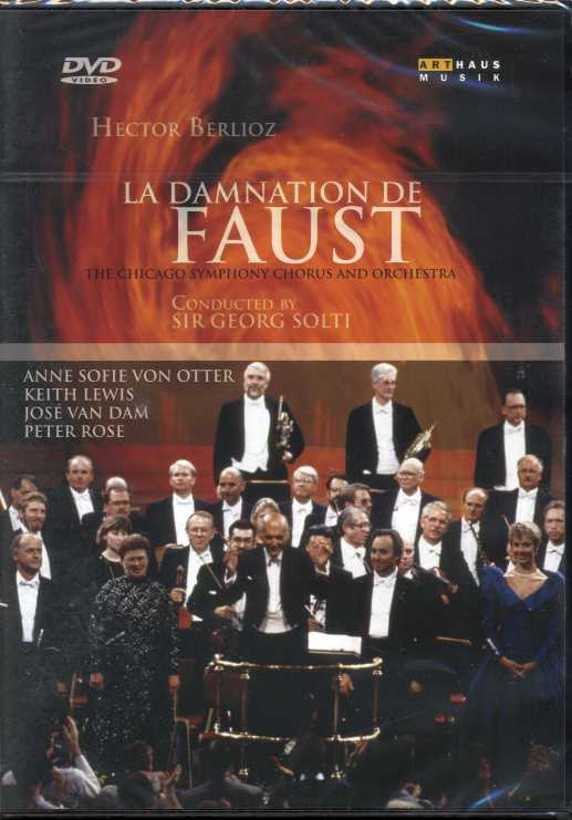 Hector Berlioz / La Damnation De Faust / Anne Sofie von Otter / Keith Lewis / The Chicago Symphony Chorus and Orchestra / Sir Georg Solti DVD