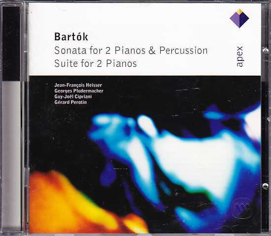 Béla Bartók / Sonata for Two Pianos and Percussion / Suite for Two Pianos / Jean-Francois Heisser / Georges Pludermacher