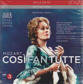 W.A. Mozart / Così Fan Tutte / Kiri Te Kanawa / Agnes Baltsa / Orchestra of the Royal Opera House / Colin Davis 3CD