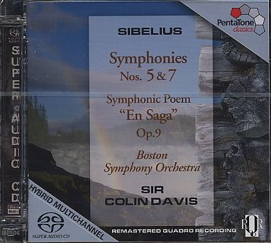 Jean Sibelius / Symphonies 5 & 7 / Boston SO / Colin Davis SACD