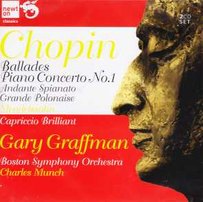 Frédéric Chopin / Piano Concerto no.1 / Ballades / Gary Graffman / Boston Symphony Orchestra / Charles Munch