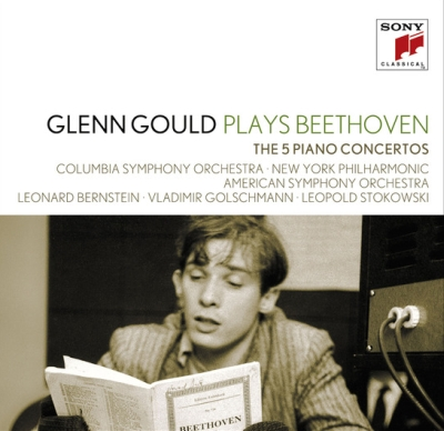 Ludwig van Beethoven / Piano Concertos (Complete) // Glenn Gould / Columbia Symphony Orchestra / New York Philharmonic / American Symphony Orchestra / Leonard Bernstein / Vladimir Golschmann / Leopold Stokowski